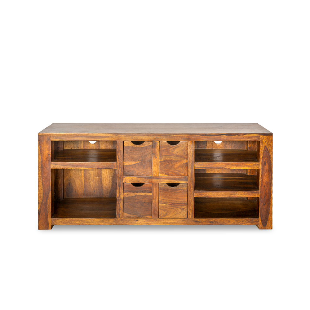 Porta-Tv in legno di palissandro indiano (sheesham wood)