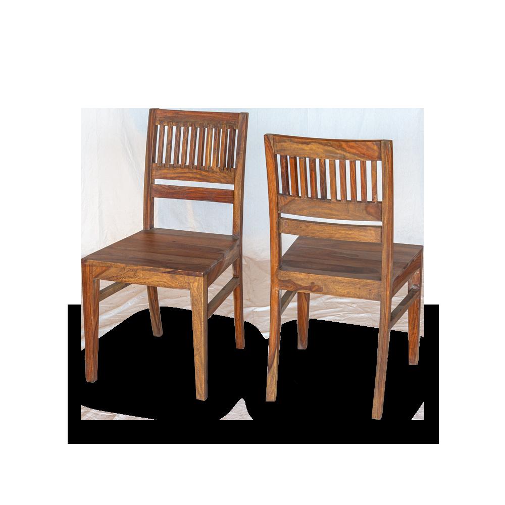 Sedia in legno di palissandro indiano (finitura opaca natural)