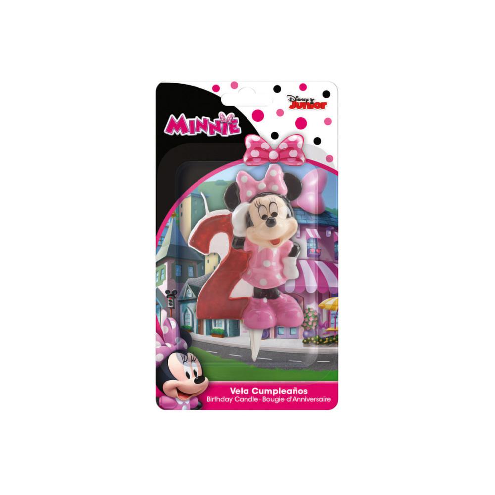 Candelina in cera 3D Topolina Minnie 2 Anni