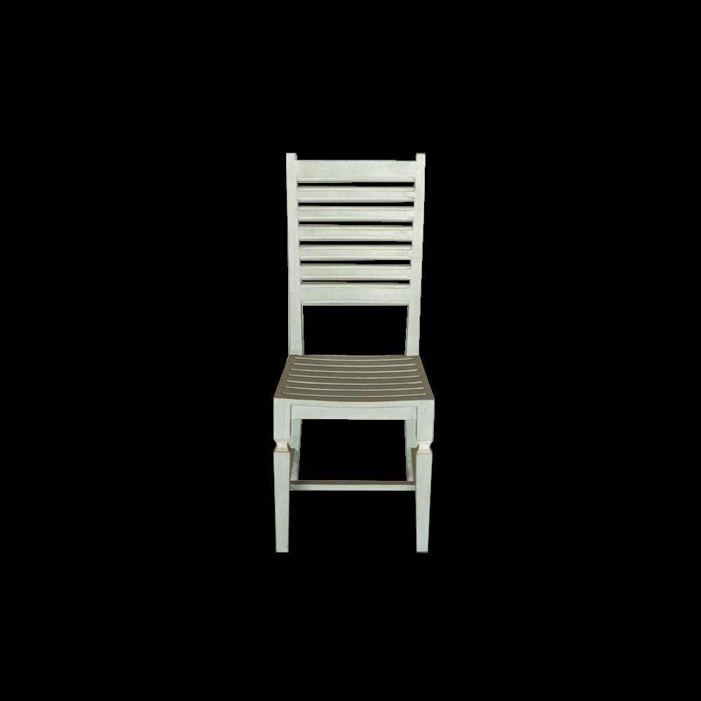 Sedia in legno di acacia azzurra grigia