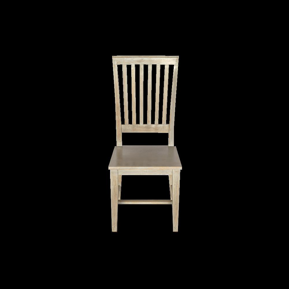 Sedia in legno di acacia grigia