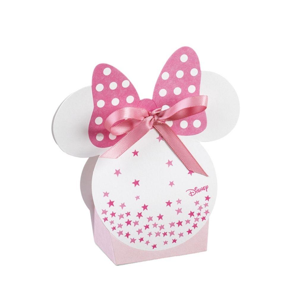 Portaconfetti scatolina Minnie stars rosa