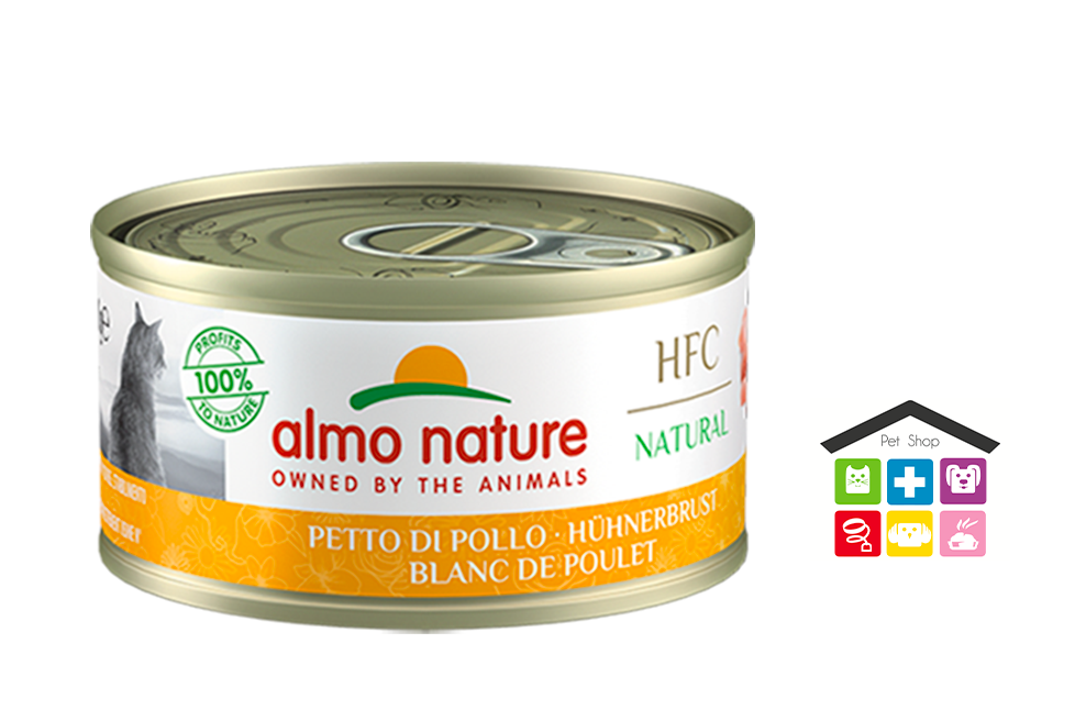Almo Nature Umido HFC per Gatti - Petto di pollo 0,70G