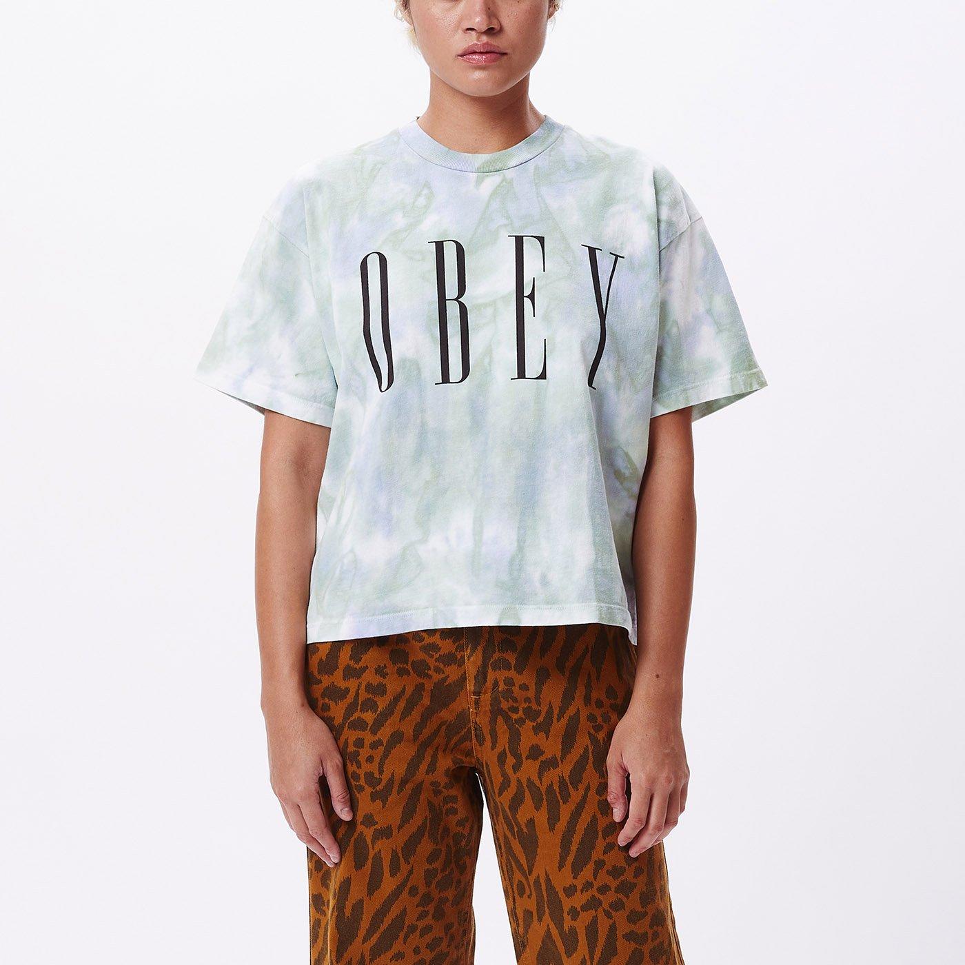 T-Shirt Obey W New Custom Crop Tie Dye Tee