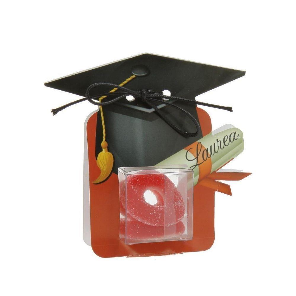 Scatolina porta confetti + cubo pvc Laurea