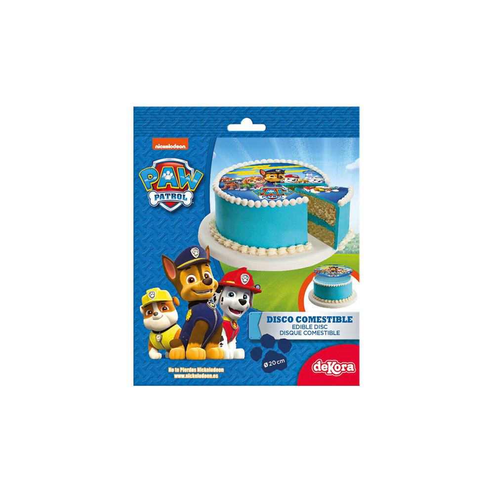 Disco decorativo per torte di compleanno Chase, Skye e Marshall - Paw Patrol