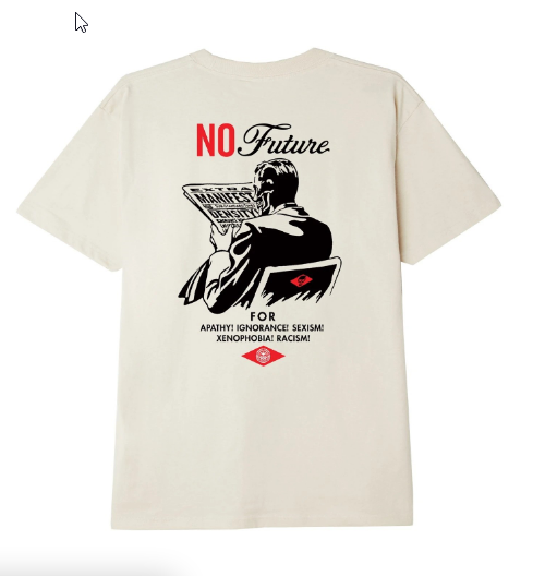 T-Shirt Obey No Future Cream