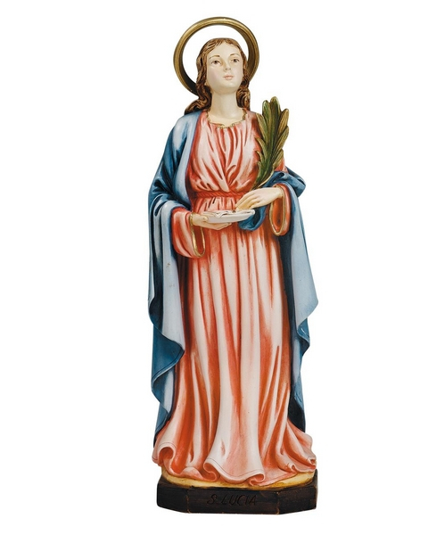 S. Lucia in resina cm. 22