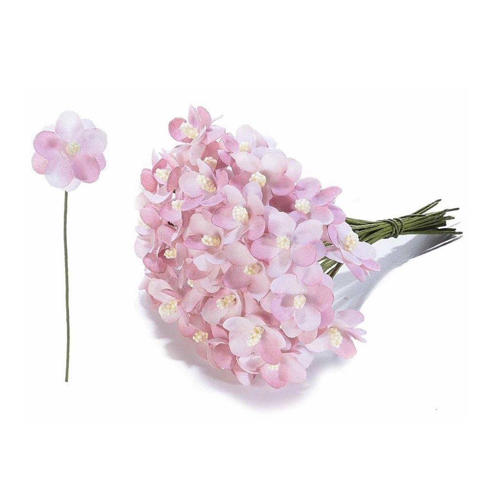 Fiorellino artificiale in stoffa malva per bomboniera