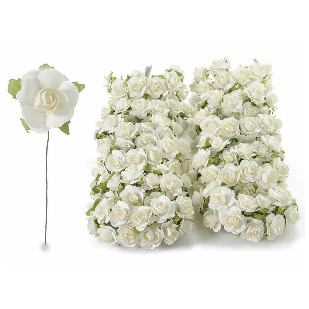 Rosellina chiudipacco in carta bianca