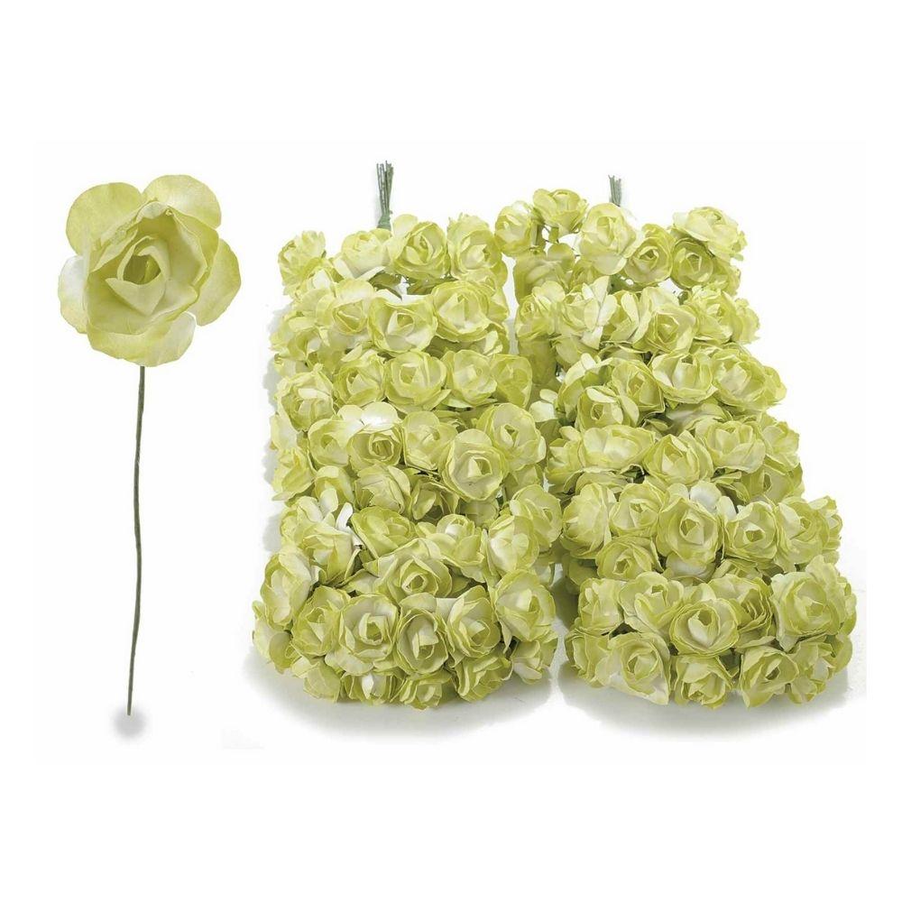 Rosellina in carta verde pistacchio per bomboniera
