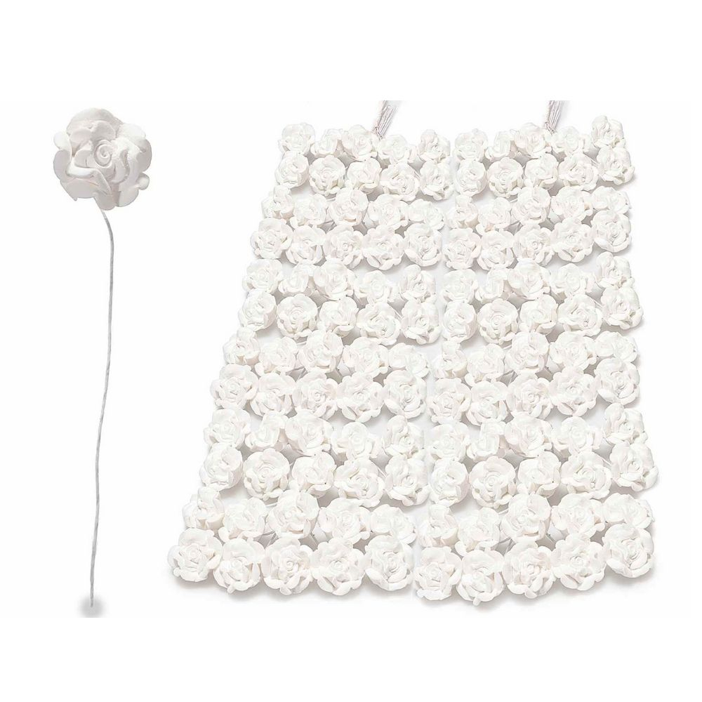 Rosellina chiudipacco in gesso bianco