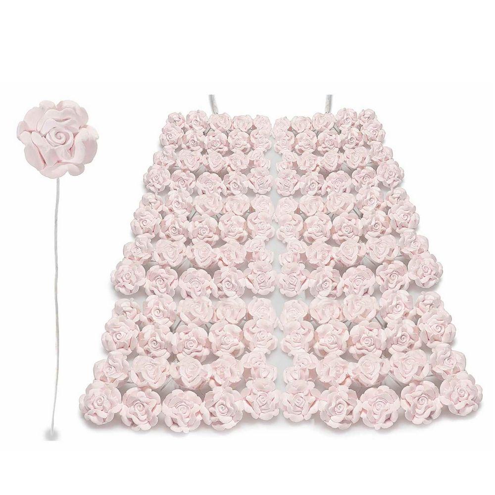 Rosellina chiudipacco in gesso rosa