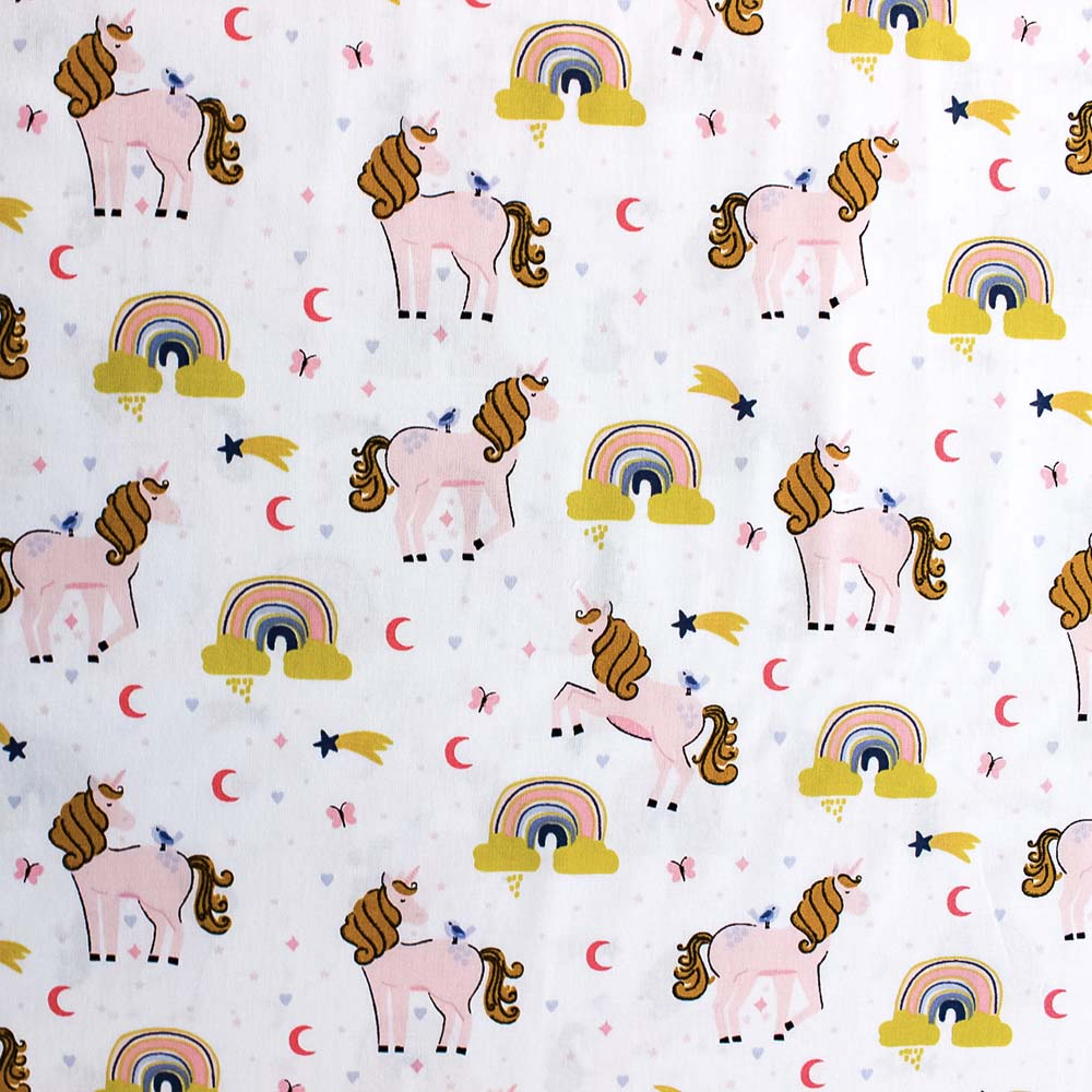 Cotone fantasia Unicorni - Oeko Tex 100- by Poppy