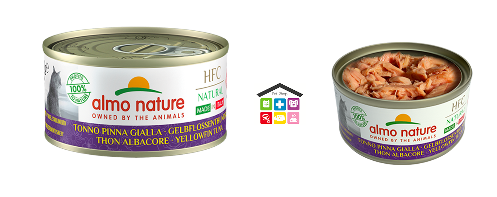 Almo nature HFC Natural Made in Italy Tonno Pinna Gialla 0,70g