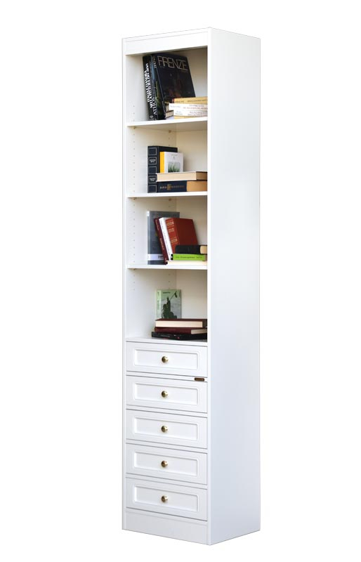 Classic modular bookcase 5 drawers lacquered