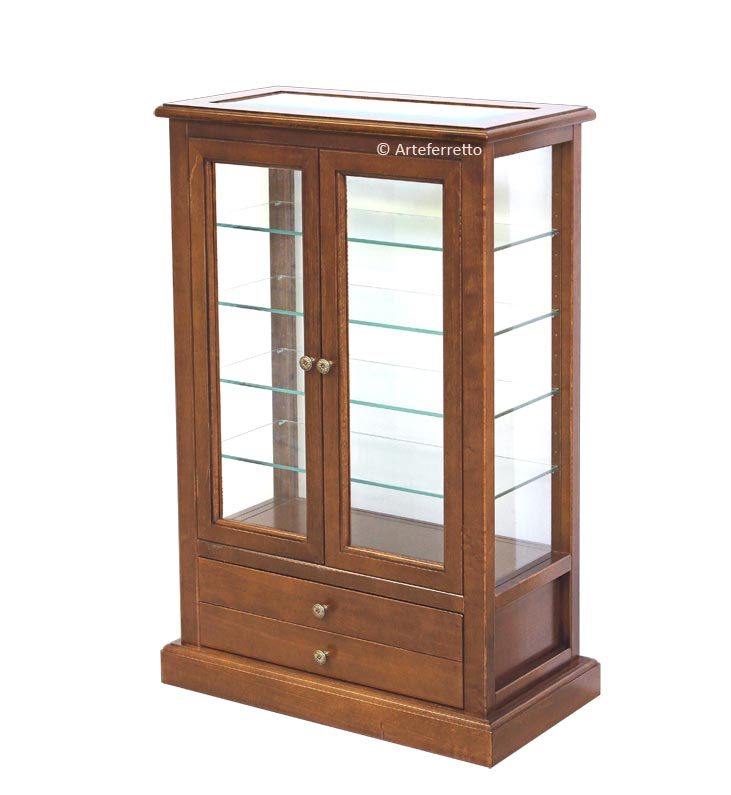 Display cabinet double-sided
