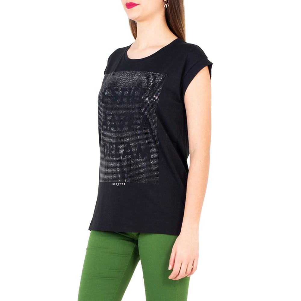 T-Shirt DOUGLAS Borchie nera - NENETTE