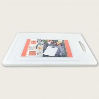 Tagliere Per La Casa 35x25 cm Colore Bianco In Polietilene Adatto a Qualsiasi Alimento Da Tagliare