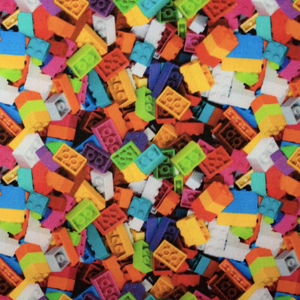 COTONE FANTASIA COSTRUZIONI LEGO MULTICOLOR