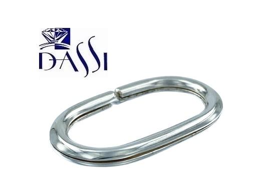 Portachiavi in argento 925 di forma ovale