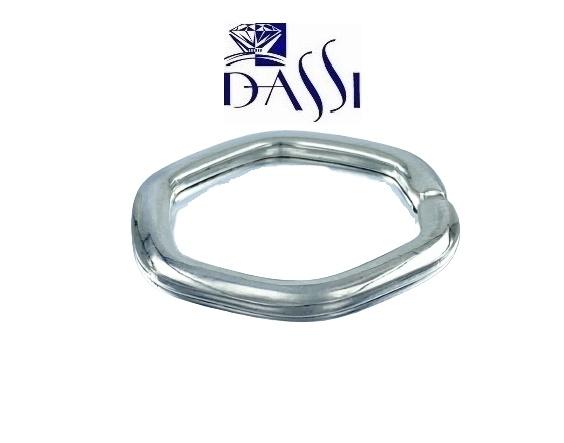 Portachiavi in argento 925 di forma esagonale di 2.5 cm di diametro