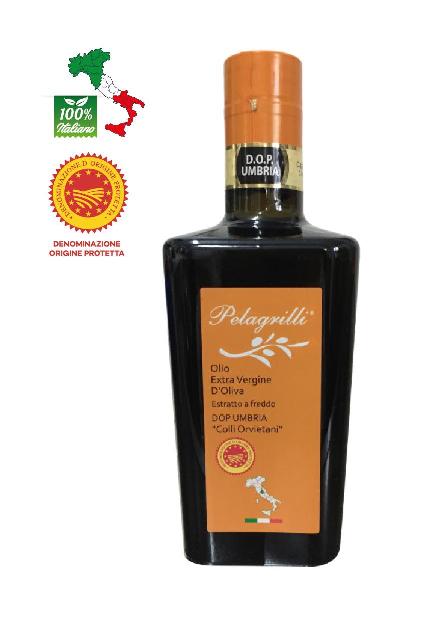 DOP UMBRIA Colli Orvietani  LT 0,5  Olio extravergine di oliva - Raccolto 2020-2021 - estratto a freddo - FILTRATO