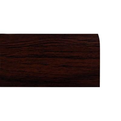 Battiscopa in Legno Ayous Liscio Noce Scuro - DIMENSIONI: 7X1cm - Altezza: 2,40mt - Scegli tu le misure!