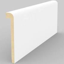 Battiscopa Coprimarmo in Legno Ayous Liscio Bianco - DIMENSIONI: 9,3X1,5cm - Altezza: 2,40mt - Scegli tu le misure!