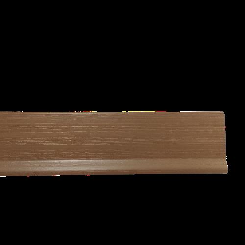 Battiscopa in PVC Liscio Noce Chiaro  - DIMENSIONI: 7x0,2cm - Altezza: 2,00mt - Scegli tu le misure!
