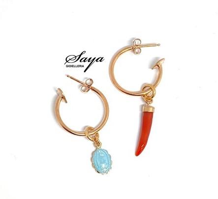 Sacramore, orecchini in argento rosè