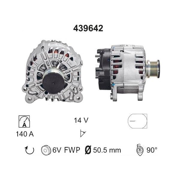 ALTERNATORE ADATTABILE AUDI A1 A4 A5 Q5 140A 2014>2018 GA439642V-R