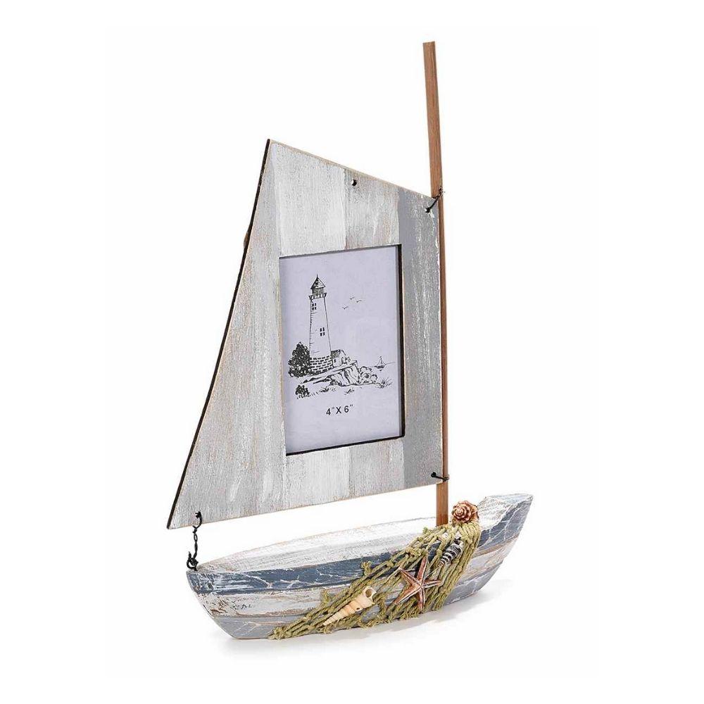 Barchetta in legno con vela portafoto