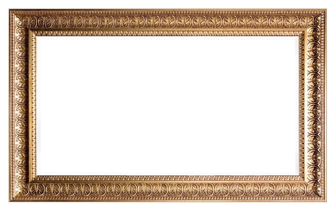 Miroir cadre en bois sculpté
