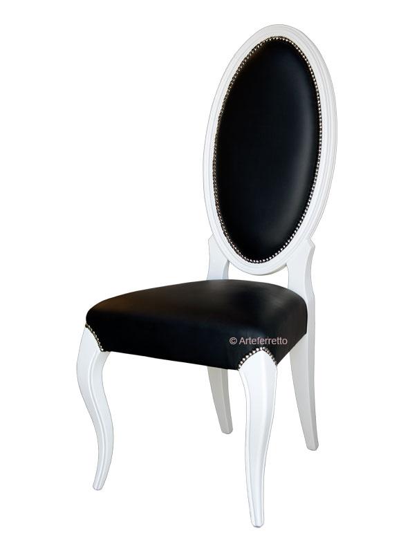 Chaise bois massif avec dossier haut