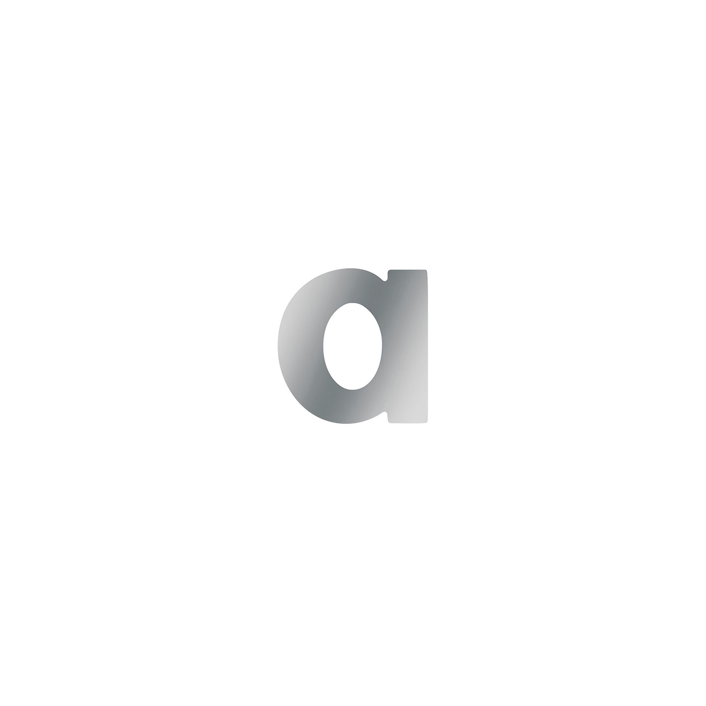 NUMERO CIVICO INOX- A MINUSCOLA