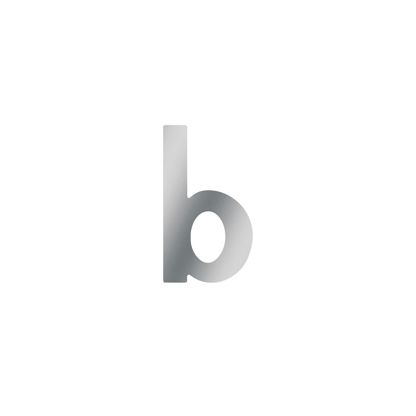 NUMERO CIVICO INOX- B MINUSCOLA