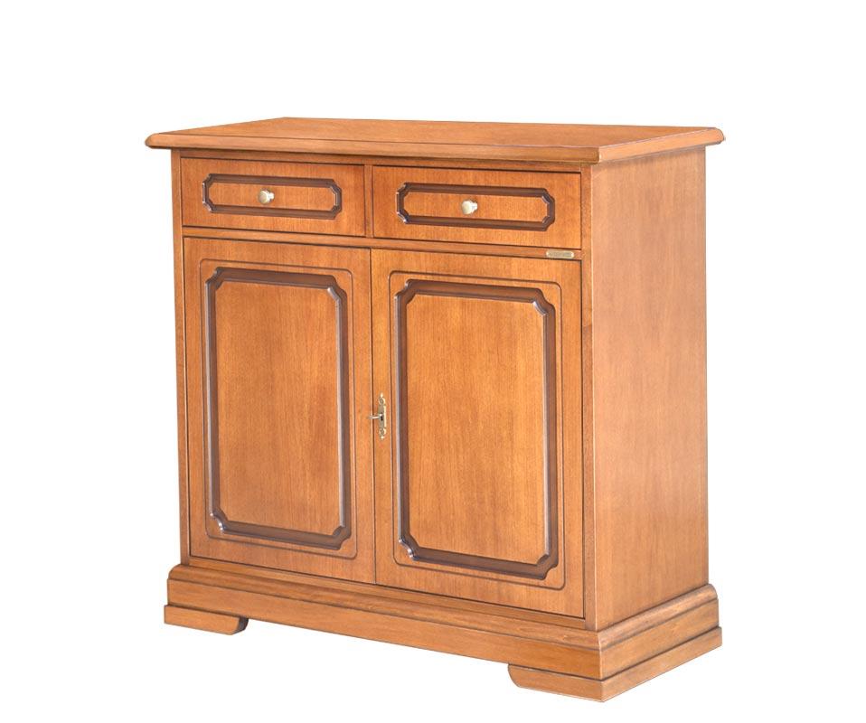 Aparador en madera 2 puertas 2 cajones estilo Luis Felipe