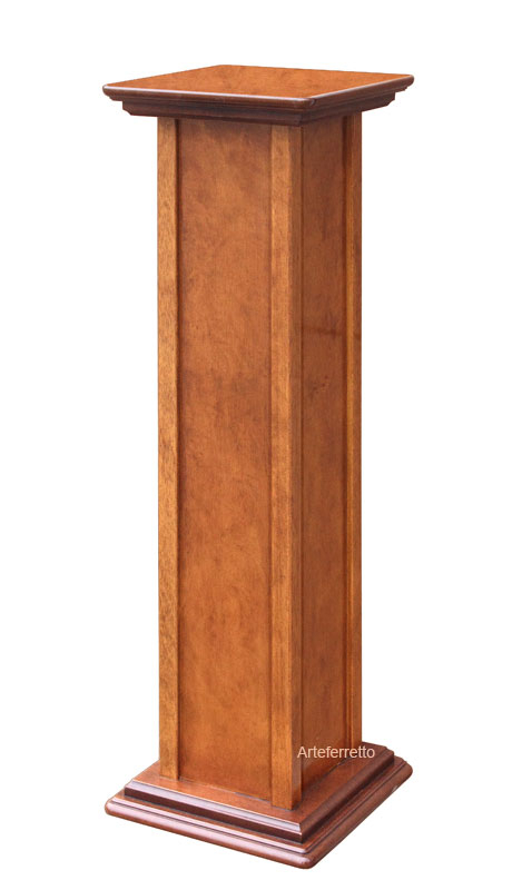 Pedestal stand in wood, 80 cm tall