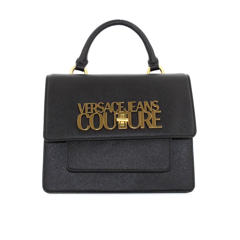 Versace BJeans Couture Borsa Tracolla Nera Con Logo in rilievo da Donna