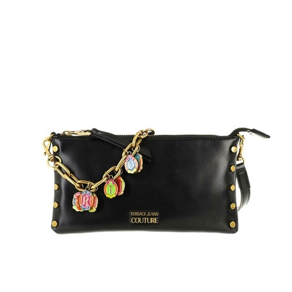 Versace Jeans Couture Pochette con Charms Nera da Donna