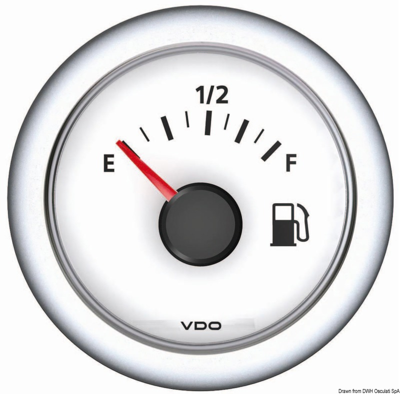 Indicatore VDO fuel 10/180 bia - Osculati
