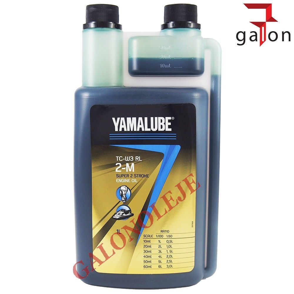 YAMALUBE 1 Litro Olio Miscela TC-W3 RL per Motori 2 Tempi