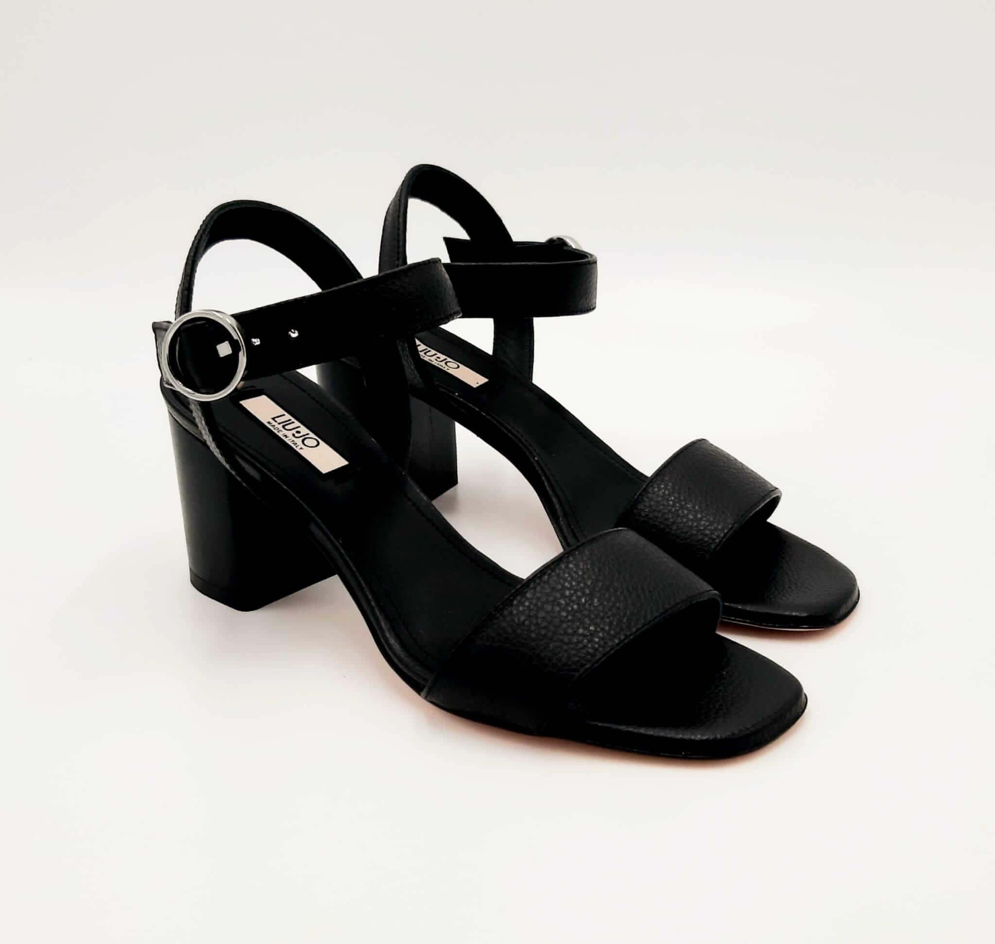Sandali con tacco nero Liu Jo