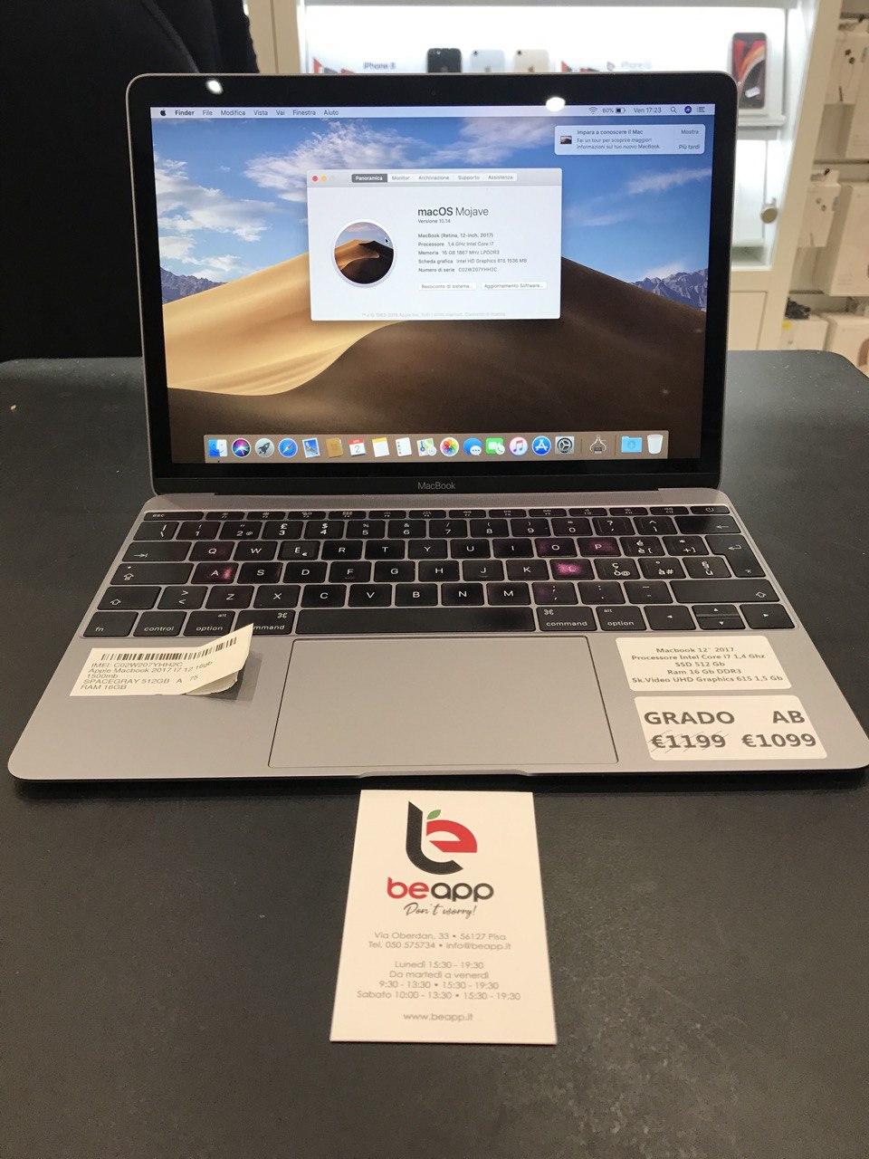 Apple MacBook 2017 - intel® i7 - 12
