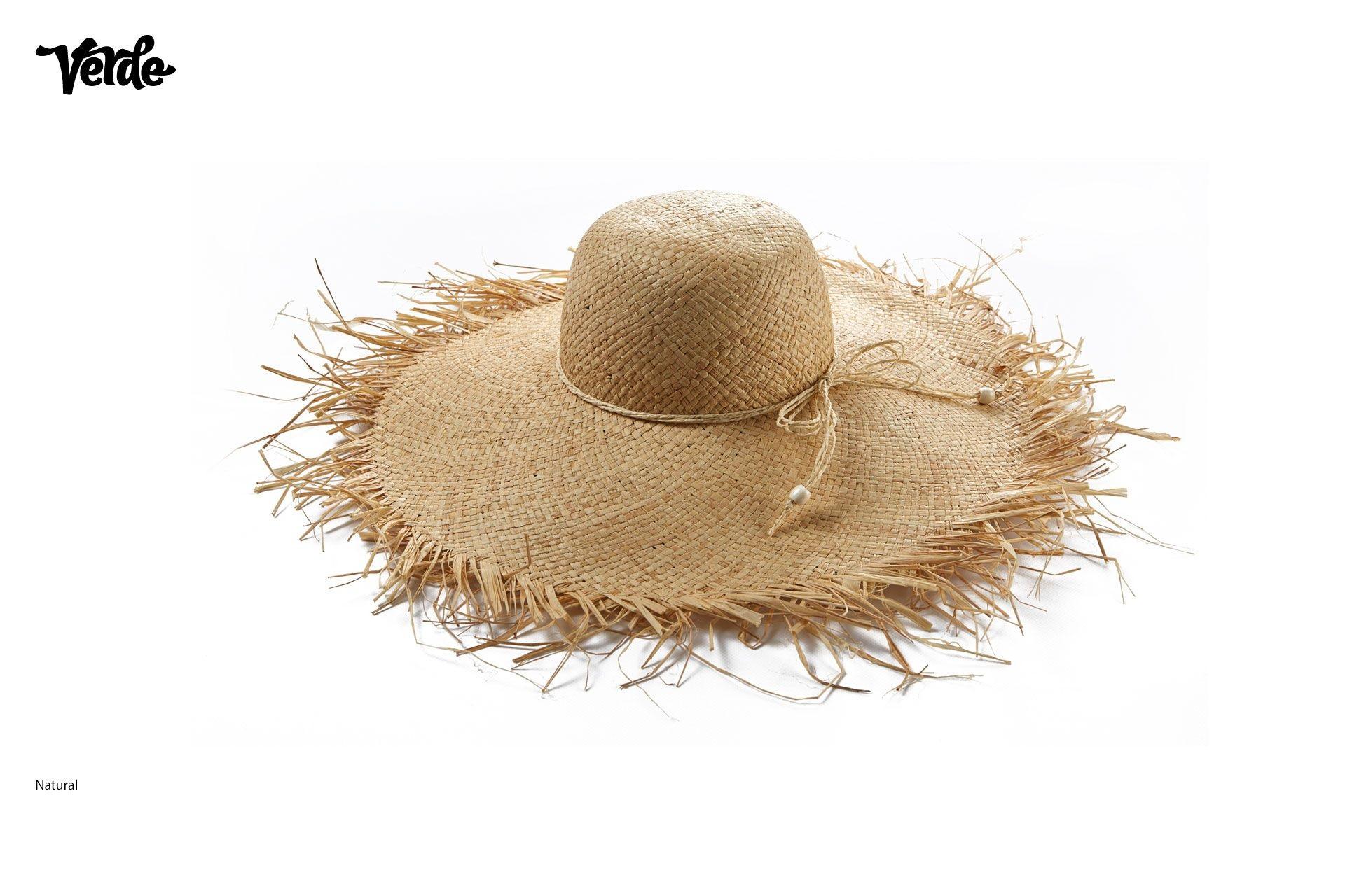 Grande cappello estivo.  Cappelli donna con frange