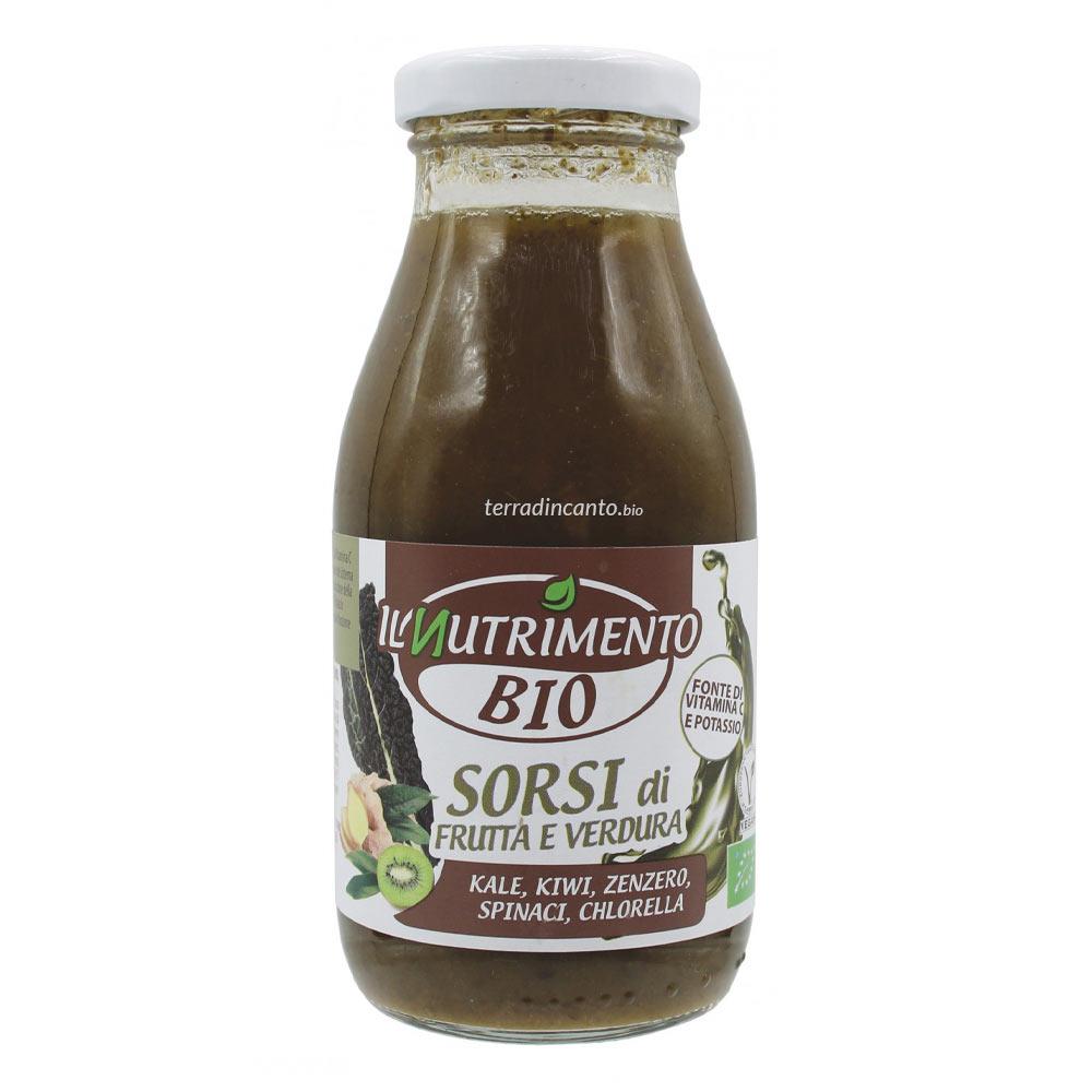 VERDE - Kale kiwi Zenzero Spinaci e Chlorella  250ml  IL NUTRIMENTO
