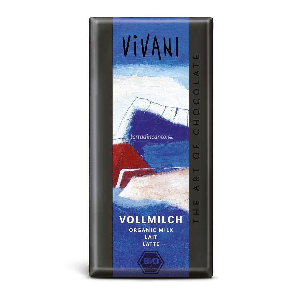 Cioccolato al latte Vivani 100Gr