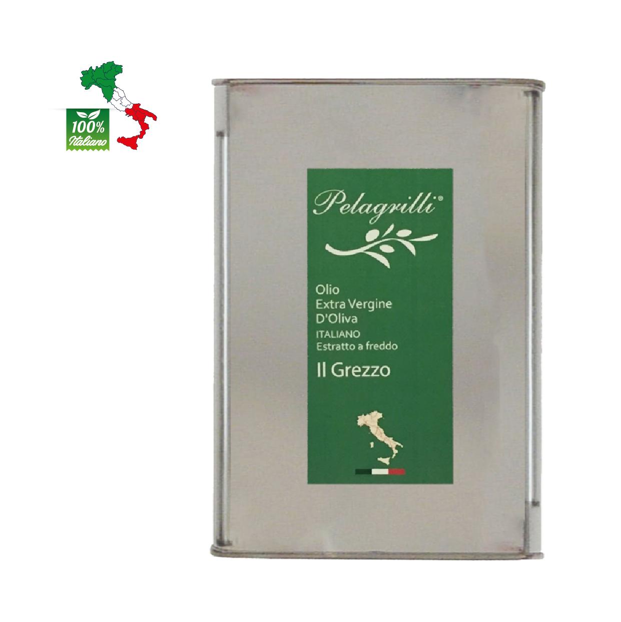 100% ITALIANO LT 3  Olio extravergine di oliva- Raccolto 2020-2021 - estratto a freddo GREZZO