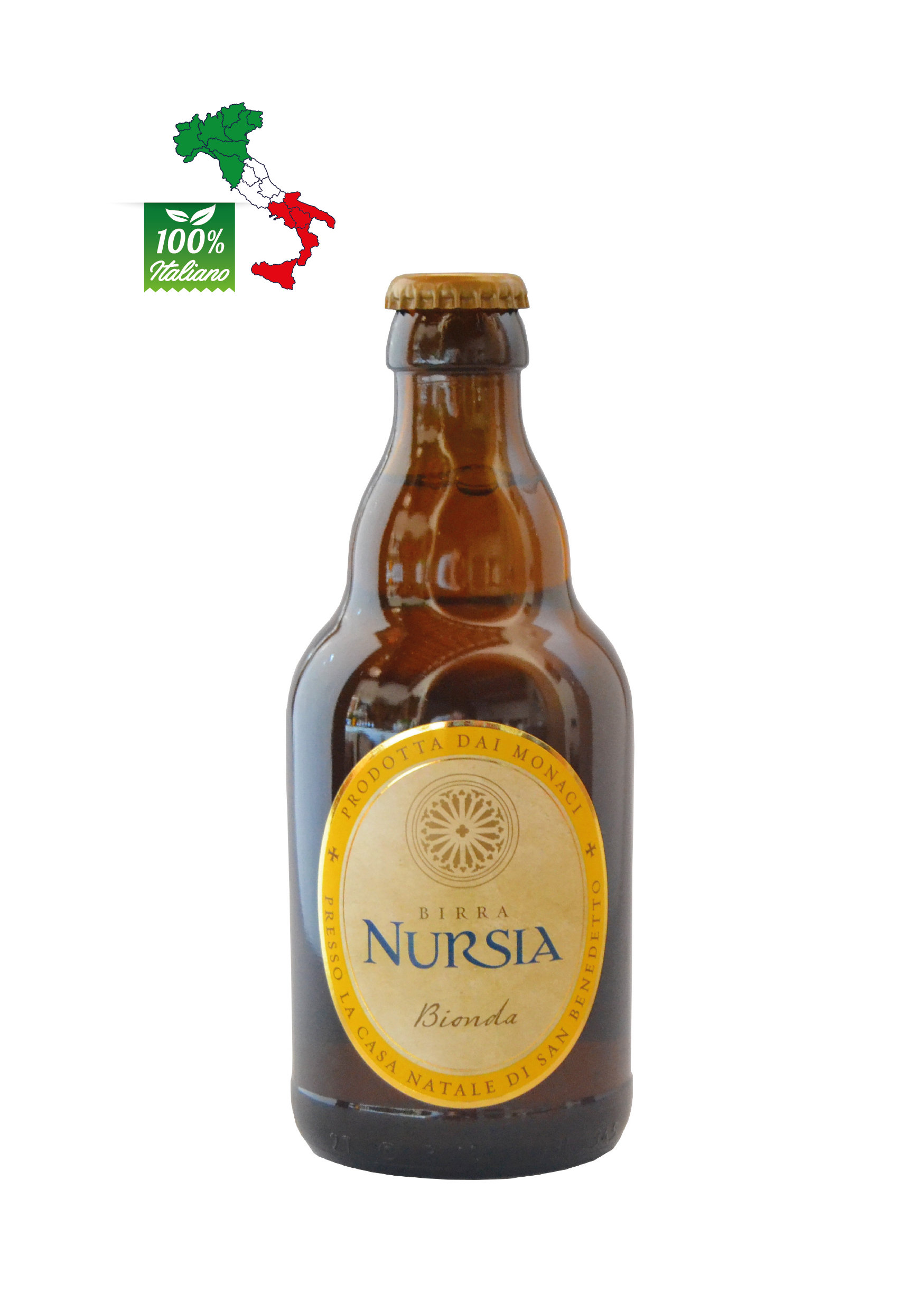 blondes Bier Nursia Flasche 33 cl